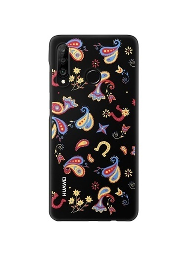 Huawei P30 Lite Colorful Arka Kapak Çiçekli Renkli